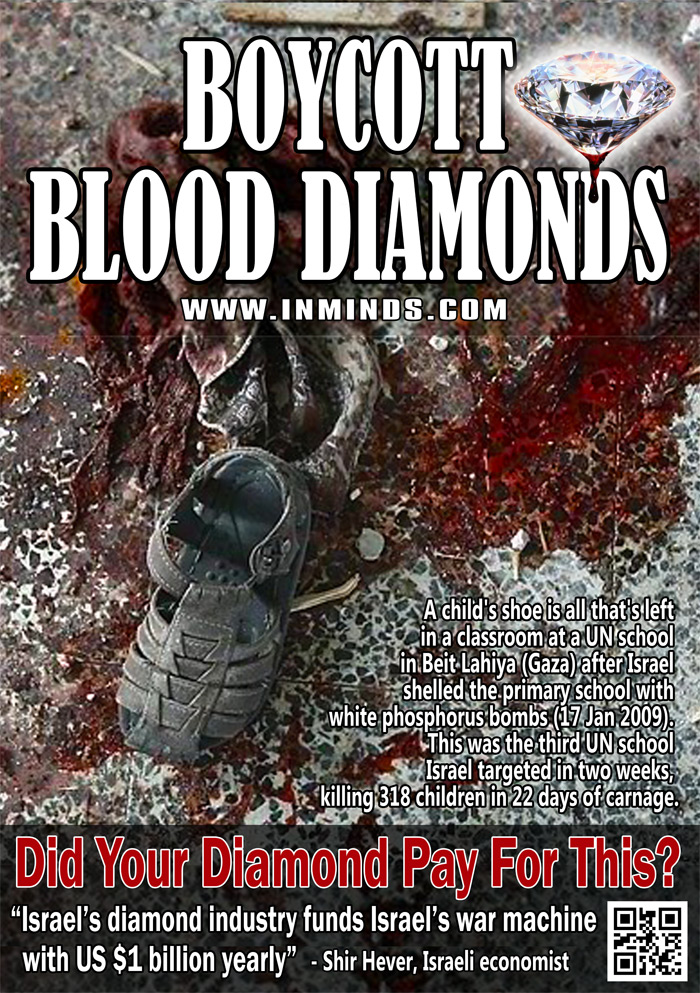 Boycott Israeli Blood Diamonds