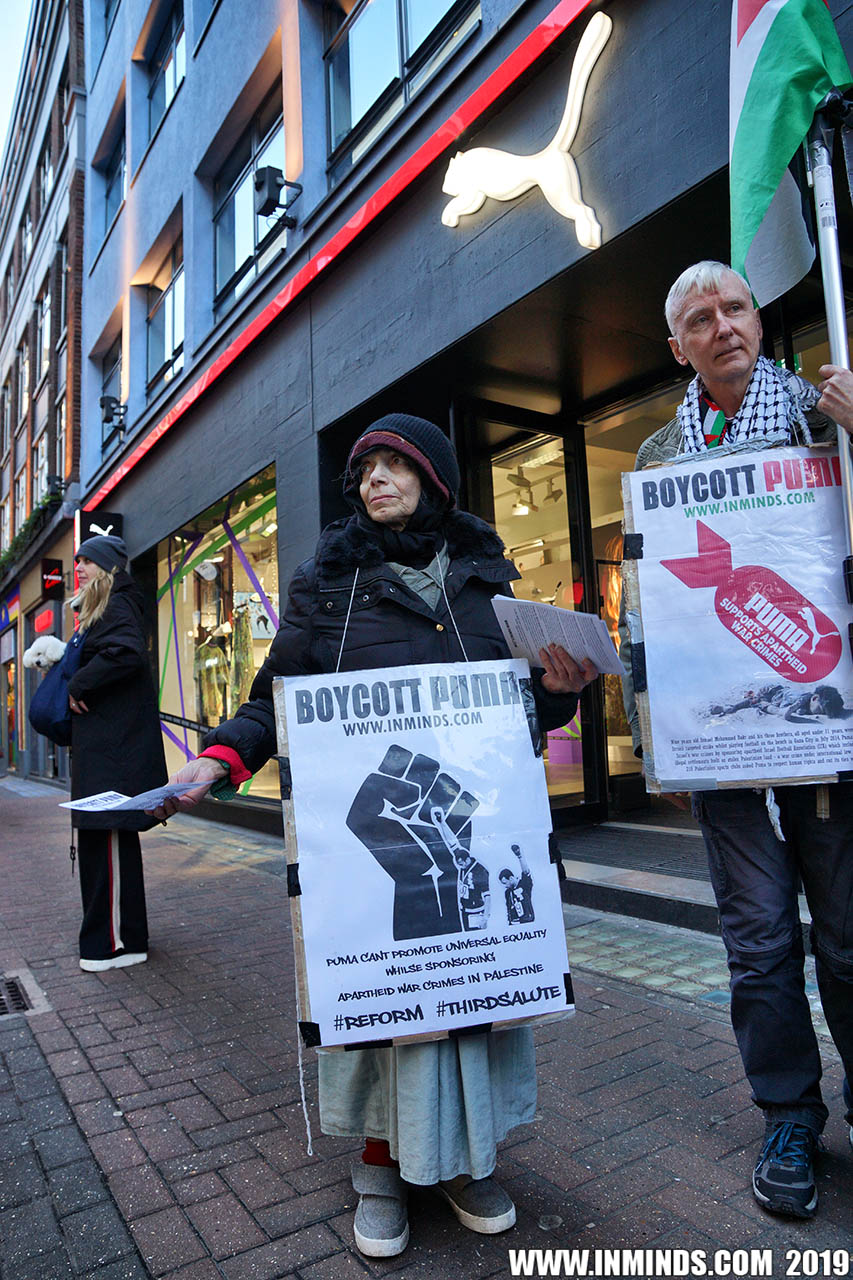 9da9a68651 Boycott Israel News  London Protest Demands Puma End Complicity In ...